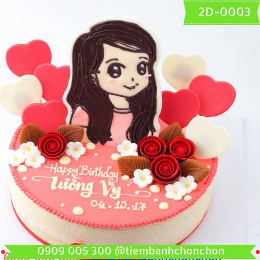 Bánh kem vẽ 2D 0003