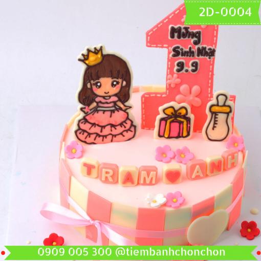 Bánh kem vẽ 2D 0004