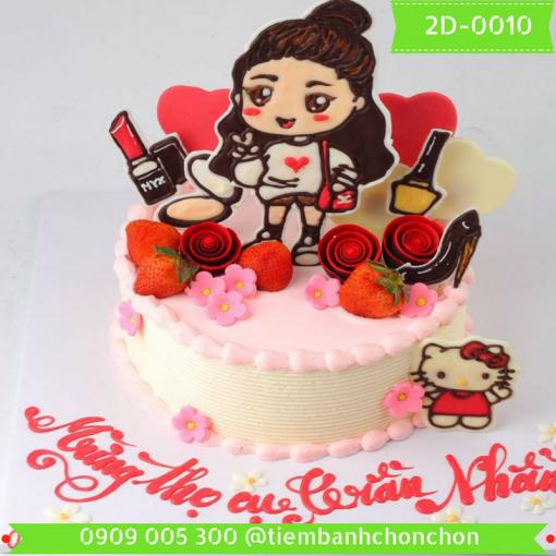 Bánh kem vẽ 2D 0010