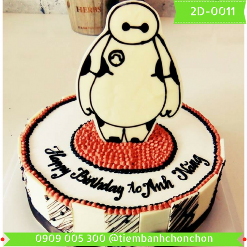 Bánh kem vẽ 2D 0011