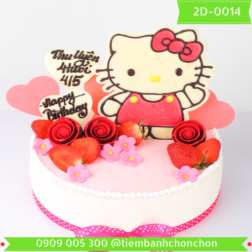 Bánh kem vẽ 2D 0014