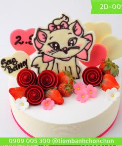 Bánh kem vẽ 2D 0015