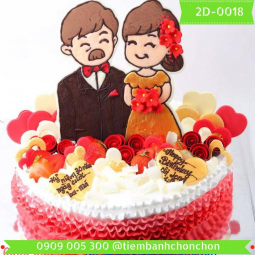Bánh kem vẽ 2D 0018