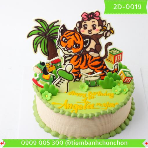 Bánh kem vẽ 2D 0019