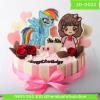 Bánh kem vẽ 2D 0022