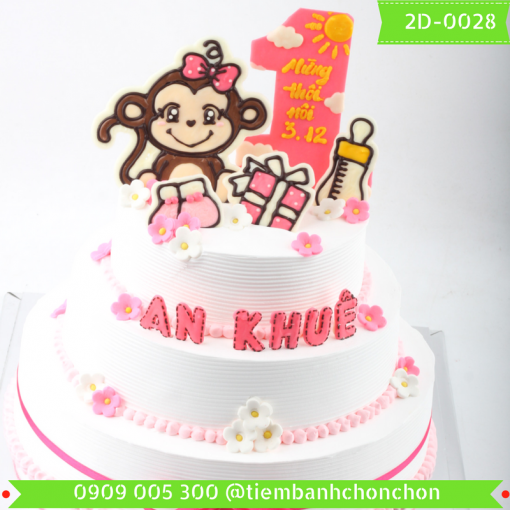 Bánh kem vẽ 2D 0028
