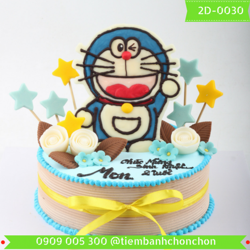 Bánh kem vẽ 2D 0030