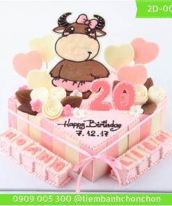 Bánh kem vẽ 2D 0031