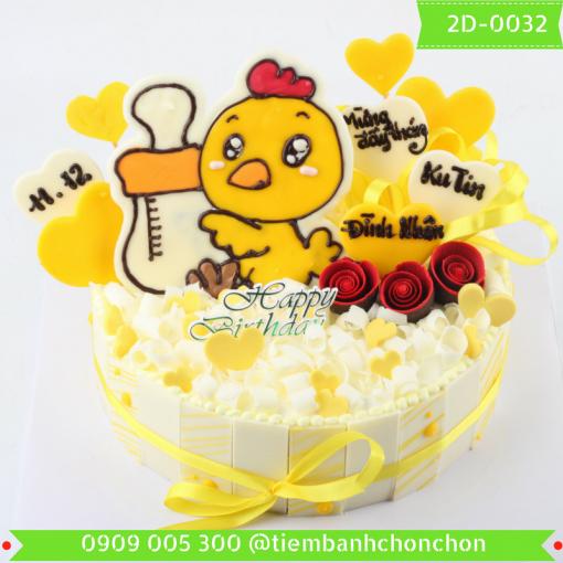 Bánh kem vẽ 2D 0032
