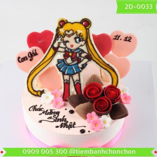 Bánh kem vẽ 2D 0033