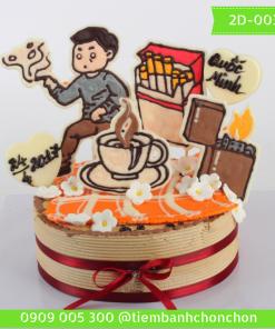 Bánh kem vẽ 2D 0035
