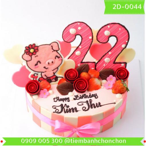 Bánh kem vẽ 2D 0044