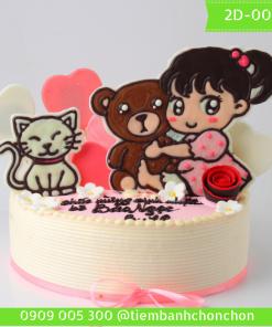 Bánh kem vẽ 2D 0049