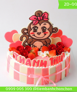 Bánh kem vẽ 2D 0051