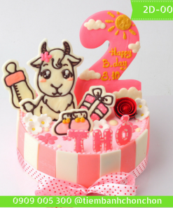 Bánh kem vẽ 2D 0053
