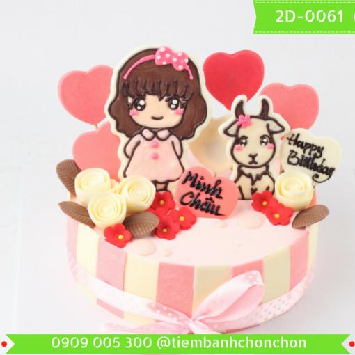 Bánh kem vẽ 2D 0061