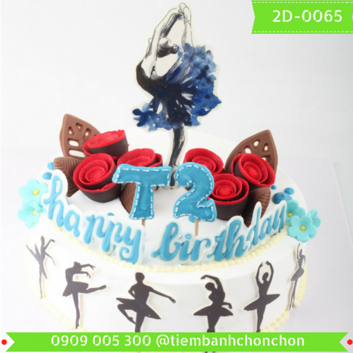 Bánh kem vẽ 2D 0065