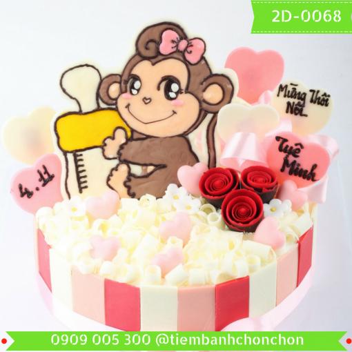 Bánh kem vẽ 2D 0068