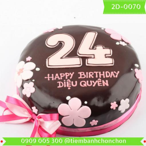Bánh kem vẽ 2D 0070