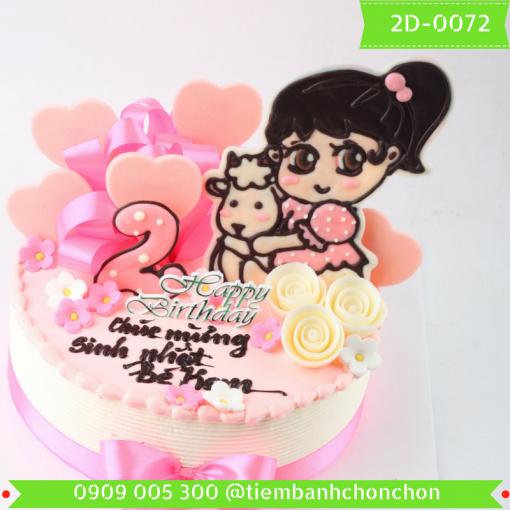 Bánh kem vẽ 2D 0072