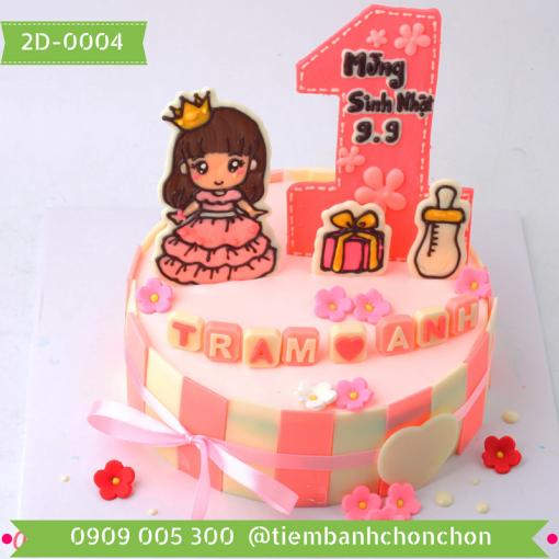 Bánh sinh nhật cho bé gái bánh số Mã số 2D-0004