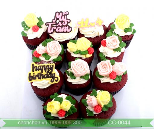 Bánh CupCake Bắt Hoa Dễ Thương Dành Cho Và Bạn Gái MS CC-0044