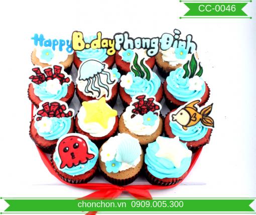 Bánh CupCake Chủ Đề Biển Dễ Thương MS CC-0046