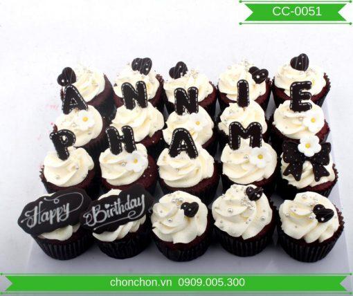 Bánh Cupcake Chữ Dễ Thương MS CC-0051