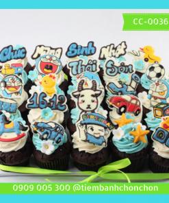 Bánh CupCake Dành Cho Bé Trai Dễ Thương MS CC-0036