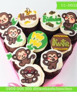 Bánh CupCake Dành Cho Bé Tuổi Khỉ MS CC-0032