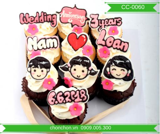 Bánh Cupcake Dành Tặng Bạn Gái Dễ Thương MS CC-0060