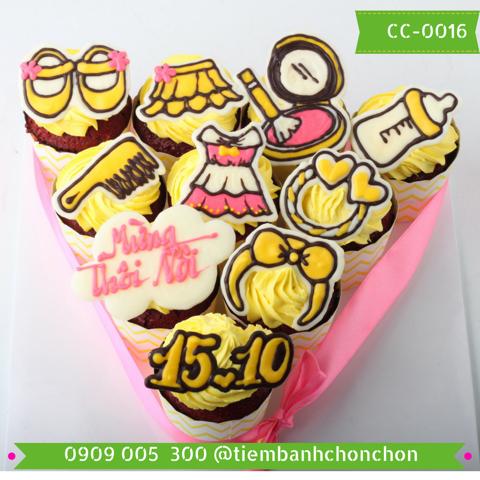 Bánh CupCake Dễ Thương Dành Cho Bé Gái MS CC-0016