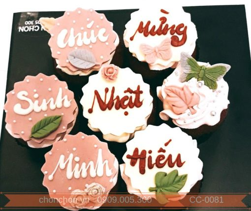 Bánh CupCake Dễ Thương Dành Cho Tiệc Sinh Nhật MS CC-0081