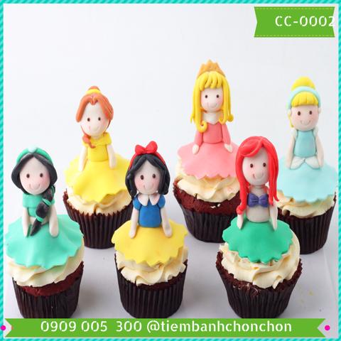 Bánh CupCake Dễ Thương Hình Công Chúa Dành Cho Bé MS CC-0002