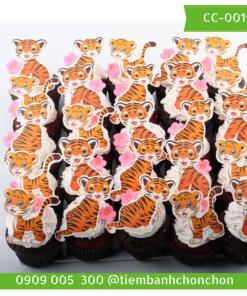 Bánh CupCake Dễ Thương Hình Mèo Dành Cho Bé MS CC-0019