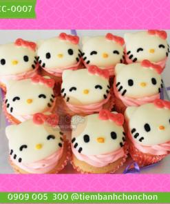 Bánh Cupcake Dễ Thương Mèo Kitty Cho Bé Gái MS CC-0007