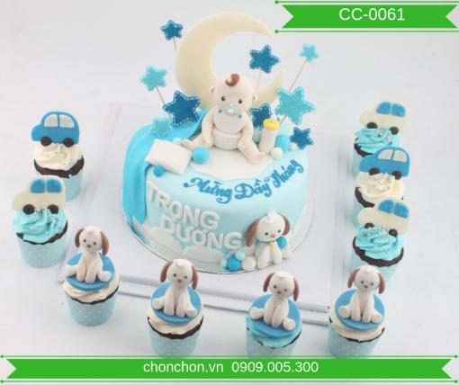 Bánh CupCake FonDant Dễ Thương Dành Cho Bé Tuổi Chó MS CC-0061