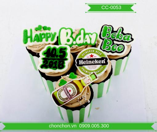 Bánh CupCake Hình Bia Dễ Thương MS CC-0053