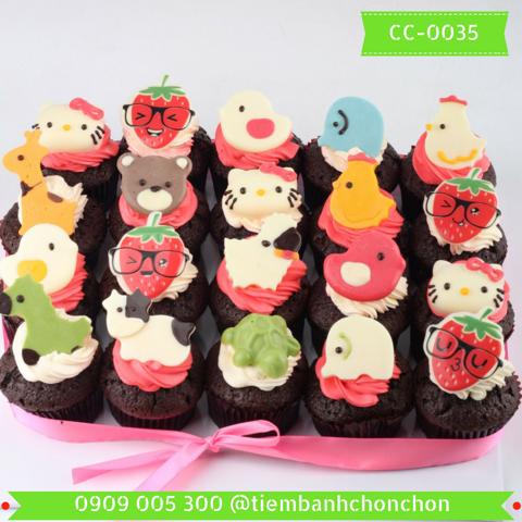 Bánh CupCake Hình Con Vật Dành Cho Bé Gái MS CC-0035