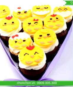 Bánh Cupcake Hình Gà Dễ Thương Dành Cho Bé Tuổi Gà MS CC-0054