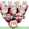 Bánh CupCake Hình Heo Dễ Thương Dành Cho Bé Tuổi Heo MS CC-0041