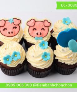 Bánh Cupcake Hình Heo Dễ Thương MS CC-0030
