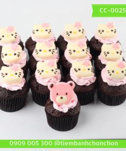 Bánh CupCake Hình Mèo Kitty Dễ Thương MS CC-0025