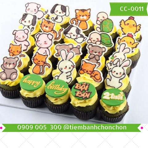 Bánh CupCake Hình Vườn Thú Dễ Thương Dành Cho Bé MS CC-0011