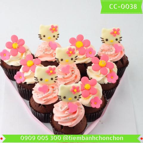 Bánh CupCake Mèo Kitty Dễ Thương Cho Bé Gái MS CC-0038