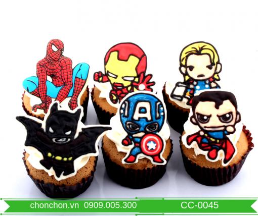 Bánh CupCake Người Nhện Dành Cho Bé Trai Dễ Thương MS CC-0045