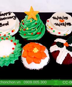 Bánh CupCake Noel Dễ Thương MS CC-0087