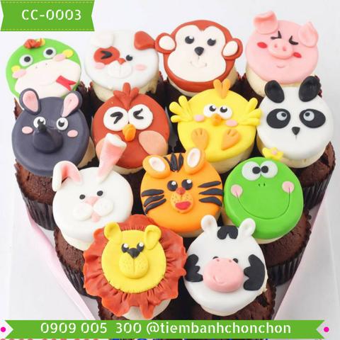 Bánh CupCake Thú Dễ Thương Dành Cho Bé Thích Động Vật MS CC-0003
