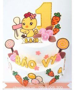 Bánh Kem 2 Tầng Dễ Thương Dành Cho Bé Gái Tuổi Gà MS 2D-0113