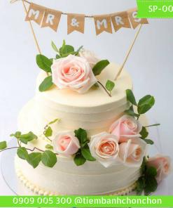 Bánh kem 2 tầng hoa hồng tươi Simple MS 0053